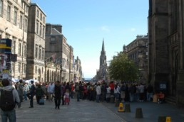Edinburgh street gathering