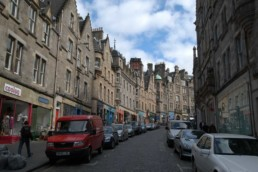 Edinburgh curved streetscape