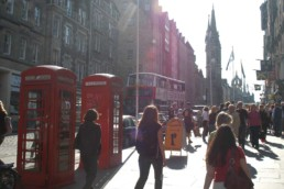 Edinburgh energetic street